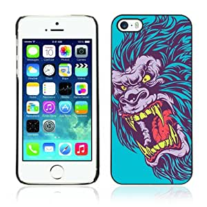 CQ Tech Phone Accessory: Carcasa Trasera Rigida Aluminio PARA Apple iPhone 5 5S - Evil Neon Gorilla