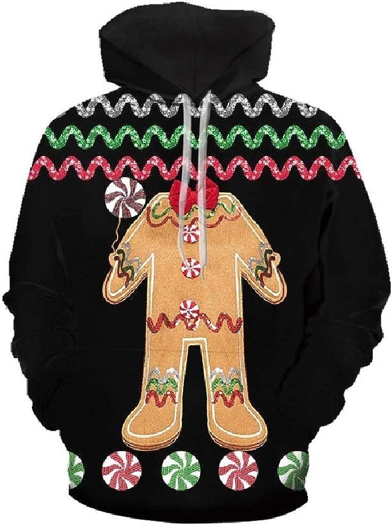willwinMen WillingStart Mens Unisex Pullover Hoodie 3D Printed Christmas Day Sweatshirts