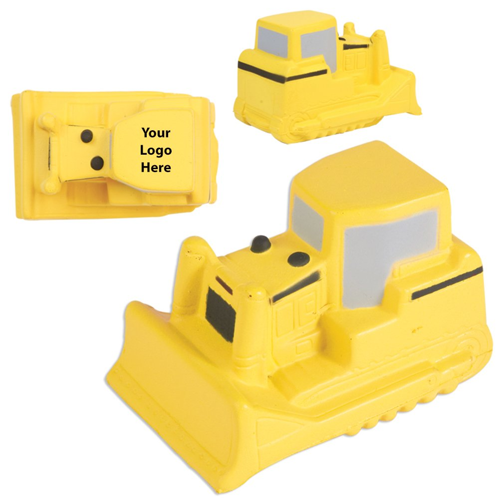 Bulldozer Stress Reliever - 150 Quantity - $2.50 Each - PROMOTIONAL PRODUCT / BULK / BRANDED with YOUR LOGO / CUSTOMIZED