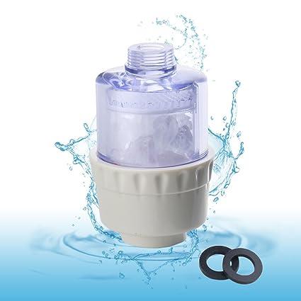leefe Filtro de agua, óxido purificador de agua para lavadora, grifo, calentador de