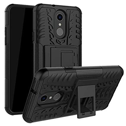 LG Q7 Case,LG Q7 Plus Case,Mustaner Dual Layer Shock-Absorption Armor Cover Full-Body Protective Case with Kickstand Combo PC+TPU Back for LG Q7 ...