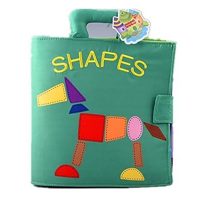 ❤️ Juguetes de bebe❤️ Dragon868 Animal Monkey Puzzle tela libro para bebé juguete intellligence desarrollo libros: Juguetes y juegos