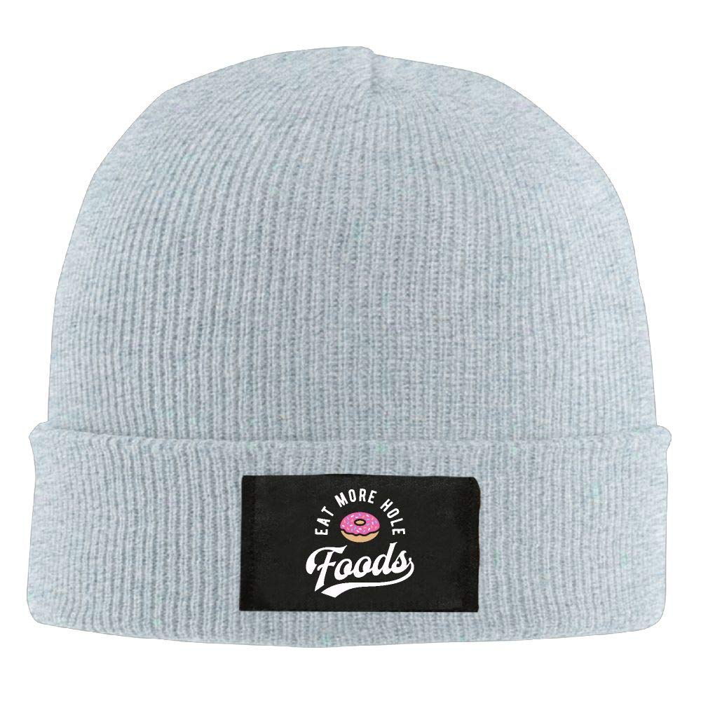 Adult Unisex Eat More Hole Foods Doughnut Casual Knitted Hat