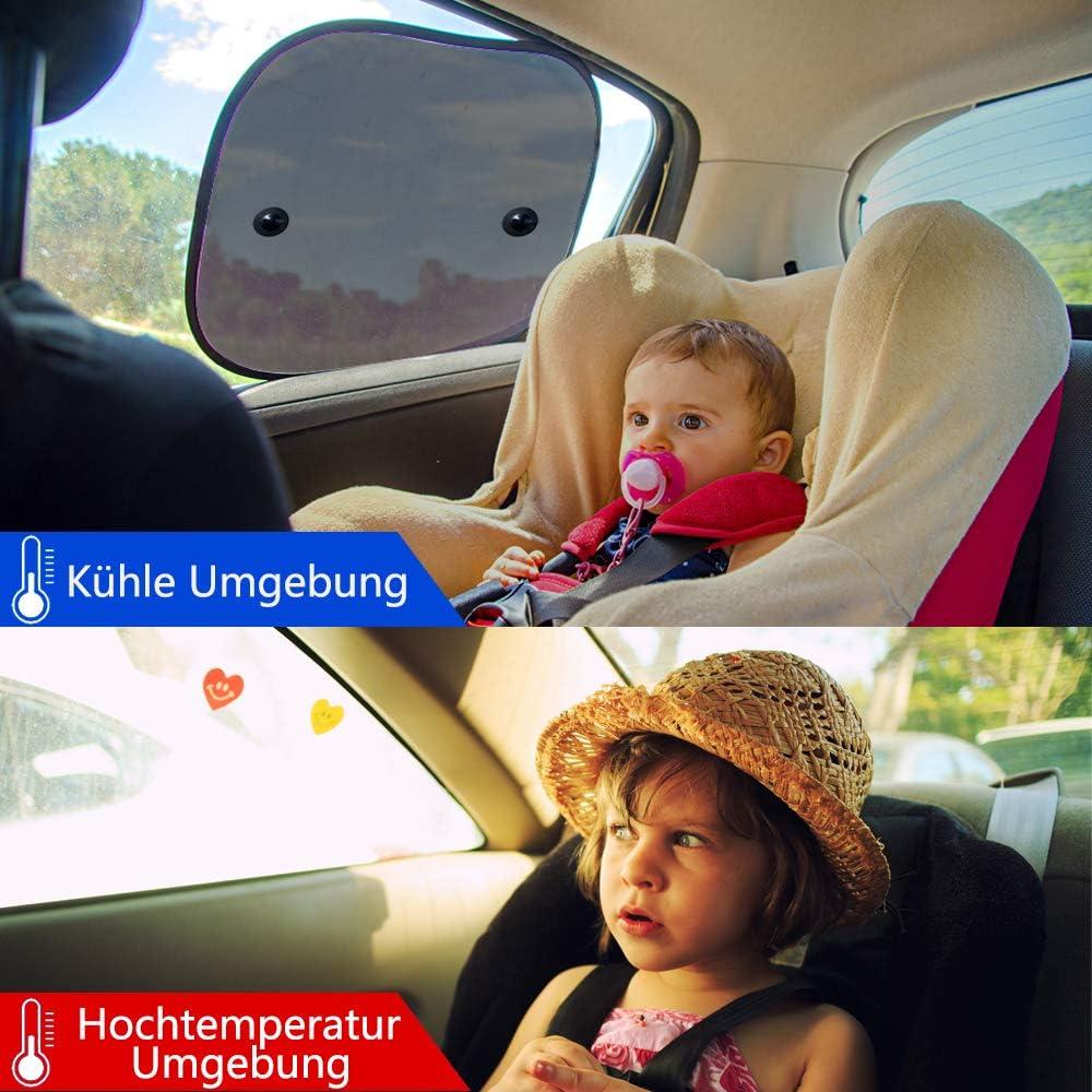 mit Saugn/äpfen 44x 36cm Haustiere Amokee Sonnenblende Auto Baby 2 St/ück Auto Sonnenschutz Auto Kinder Autosonnenblende Autofenster Seitenfenster Sonnenschutzrollo Auto Accessories f/ür Baby Kinder
