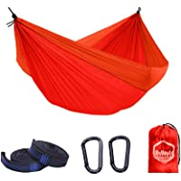 Tango Outdoor Portable Camping Hammock (Orange/Red) with Tree Straps (6 Loops) for Easy Set-Up - Australia Based…