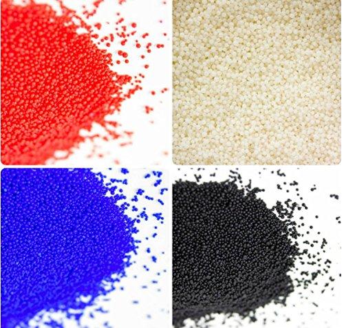 - Jojoba Beads 4 Set Blue, Black Red White 1 oz Each