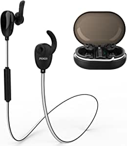 Proker Wireless Bluetooth Headphones Best Sports Earphones w/Mic IPX7 Waterproof Sweatproof Super bass Sound Stereo Earbuds for Gym Workout About 18 Hours Battery Noise Reduction Headphones S188