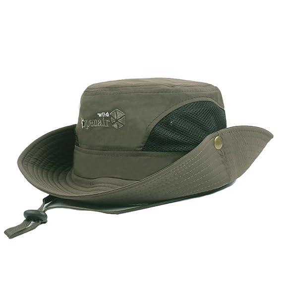 6798fe1c23565 King Star Men Safari Sun Hat Summer UV Protection Bucket Mesh Cap Boonie  Fishing Hat Army