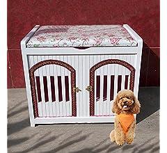 Nclon Madera sólida Casa Casa de Perro de Criadero de Perros Casa ...