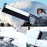 Image of Aller Multifunction Retractable Rotation Car Auto Windshield Winter Snow Brush Ice Shovel Scraper Telescopic Extendable