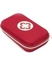 Suntapower Erste-Hilfe-Set 18 PC mit Hard EVA Case - Enthält Scissor, Taschenlampe, Alkohol-Pad und vieles mehr, Rot