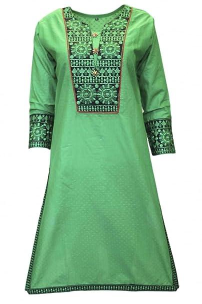Krishna Sarees KUR3022 Top azul y negro de Kurti, túnica hindú Indian Bollywood Kurti Top