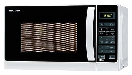 Sharp - Horno microondas con grill R-642WW, capacidad de 20 litros, potencia de 800 W, color blanco: Amazon.es: Hogar