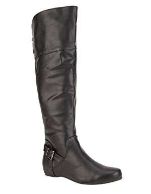 SODA Hummock Womens Over The Knee Boots, Black, 8