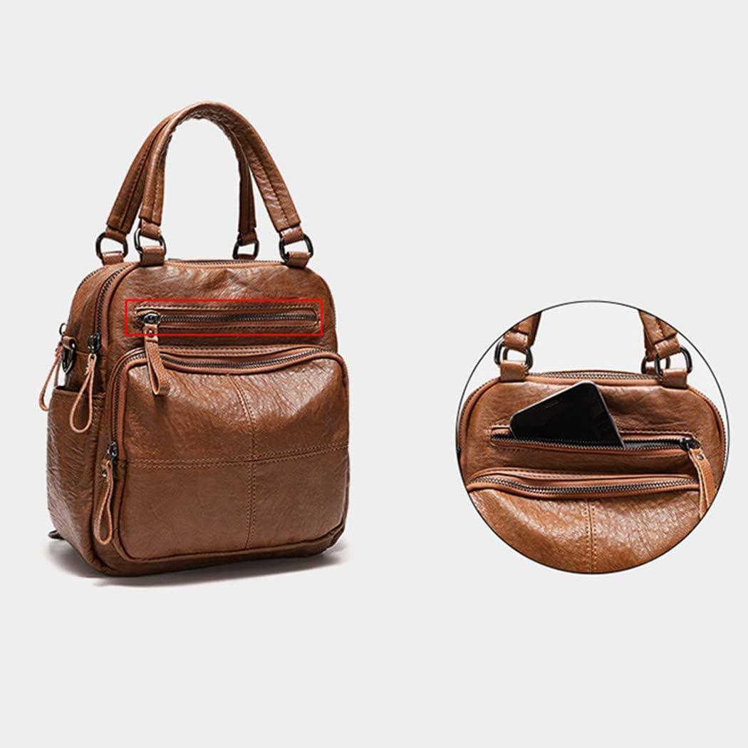 COOFIT Womens Shoulder Bag Vintage Multi-use School Backpack Crossbody Bag Satchel Bag with Zipper