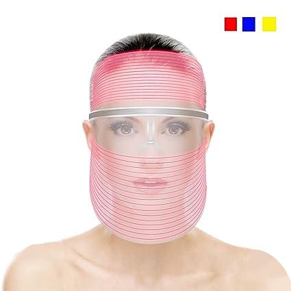 Máscara LED de 3 colores para cuidado de la piel, terapia ...