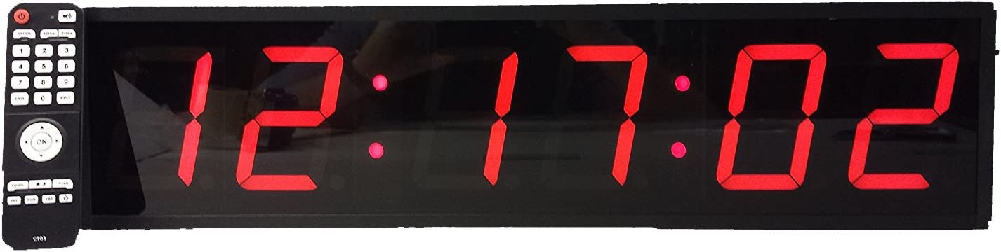 "LARGE 4/"" LED COUNT DOWN//UP//INTERVAL TIMER//STOPWATCH REMOTE CONTROL CLOCK"