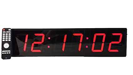 amazon com extra large digital wall clock 4 led count down up
