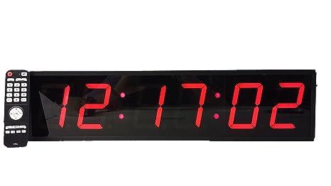 Reloj digital de pared extragrande, led, 10 cm, cuenta atrás, conteo ascendente