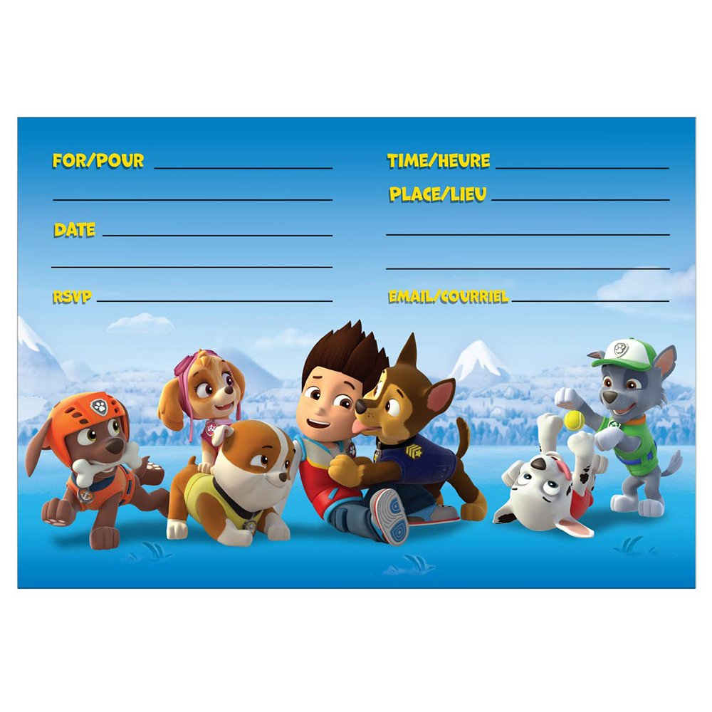 Amazon paw patrol party invitations 8ct toys games monicamarmolfo Gallery
