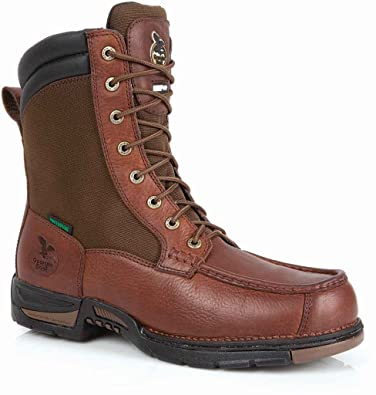 f2375c62c4b Amazon.com | Georgia Athens Mens Brown Leather Side Zip Waterproof 8 ...