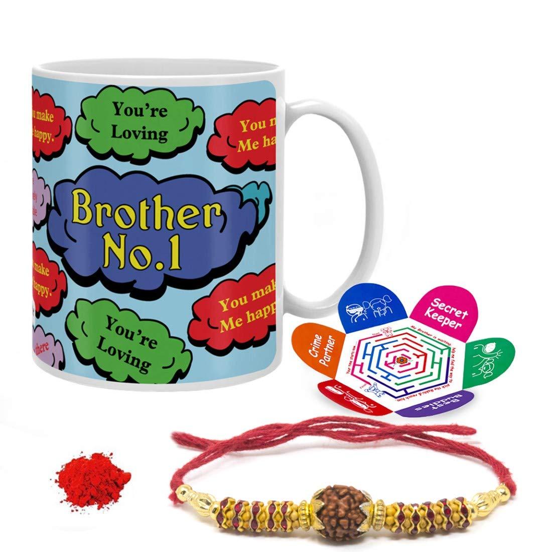 Indi ts Rakshabandhan Gifts for Brother Bro No 1 Quote