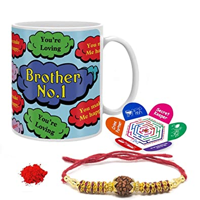 Indi ts Rakshabandhan Gifts for Brother Bro No 1 Quote