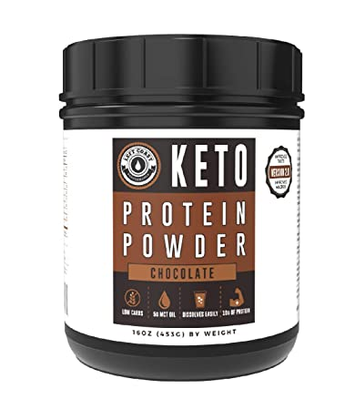 Chocolate Keto Protein Powder 25 Servings Large 16 oz MCT Powder, Grass-Fed Collagen Low Carb, High Fat Protein Powder Ketogenic Diet – Add to Coffee, Smoothies, Shakes Left Coast Performance