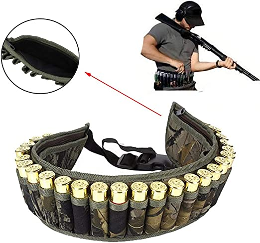 UK Tactical Military Shotgun Hunting 28 Shell Bandolier Cartridge Belt Sling New