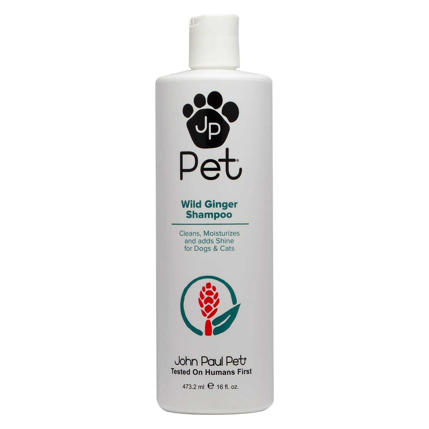 John Paul Pet Wild Ginger Shampoo for Dogs and Cats, Soothes and Cleanses Adding Moisture and Shine, 16-Ounce