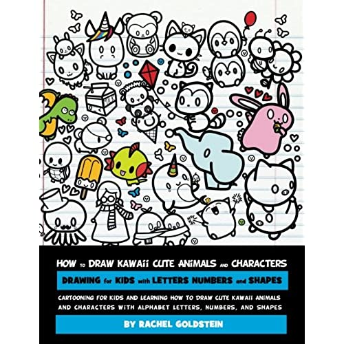 Draw for kids amazon how to draw kawaii cute animals and characters drawing for kids with letters numbers and shapes cartooning for kids and learning how to draw cute thecheapjerseys Image collections
