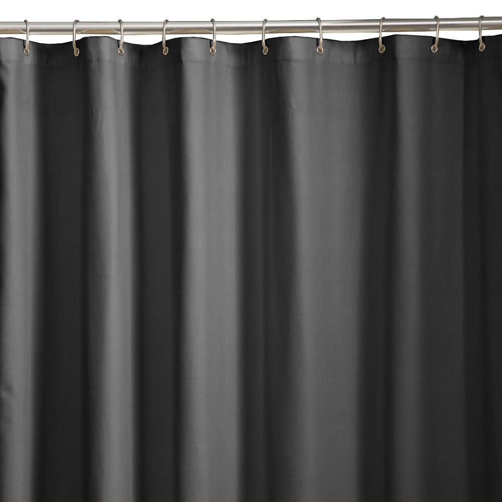Amazon Maytex Soft Microfiber Water Repellent Fabric Shower Liner Or Curtain Black Home Kitchen
