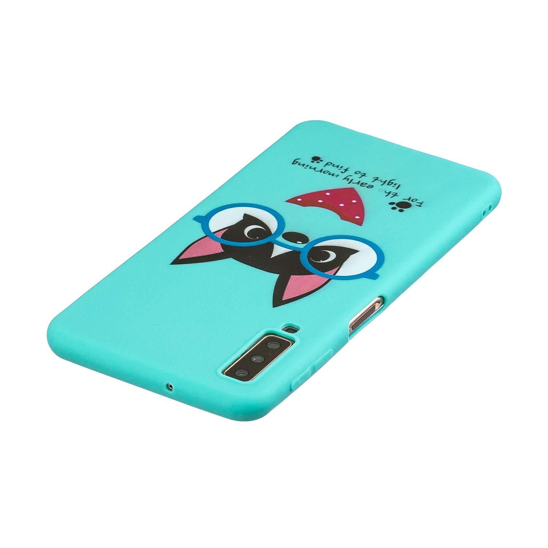 Hippopotame SEEYA pour Samsung Galaxy A7 2018 Coque /Étui en TPU Gel Silicone Anim/é Mignon Etui Protecteur Antichoc Souple Bumper Dr/ôle Doux Fine Case Cover pour Petite Fille