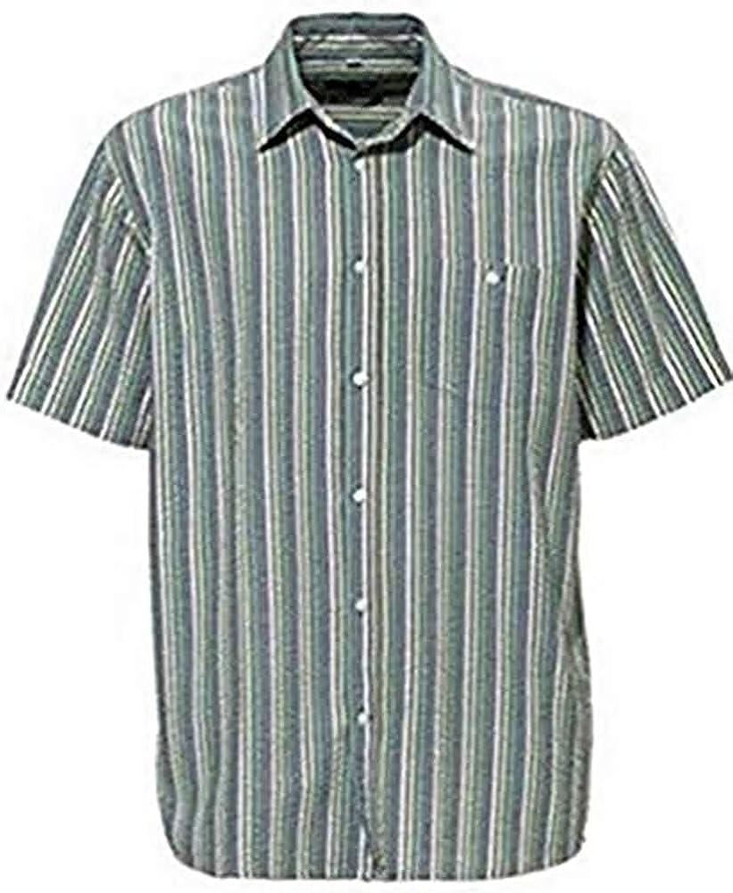 Casual Camisa Manga Corta de Castellani en De rayas - algodón, Más Colores, 100% algodón. 100% algodón, hombre, 37/38: Amazon.es: Ropa y accesorios