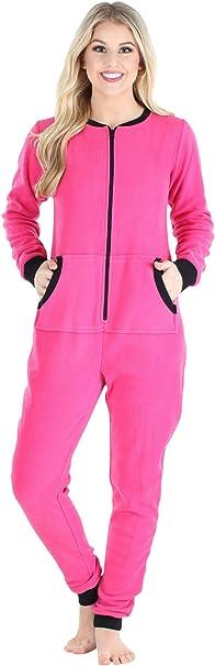 TALLA S (6-8). Sleepyheads entre las mujeres adultas no de patas paño grueso y suave de color Onesie pijama Mono