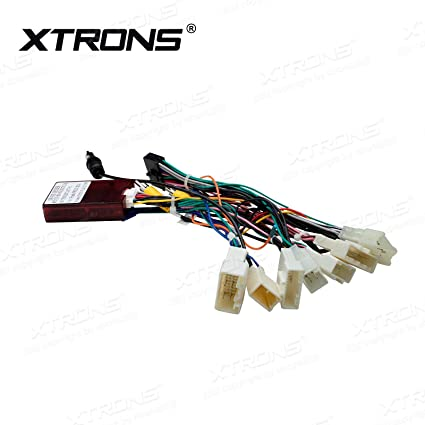 amazon com xtrons car stereo radio iso wiring harness connector Toyota Headlight Cover amazon com xtrons car stereo radio iso wiring harness connector adaptor cable for toyota prius car electronics