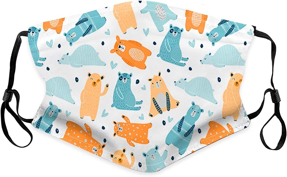MAWOLY 5Pcs Tissu Lavable Enfant Bandana Protection Tissu Coton Reutilisables /élastique /Écharpe Visage R/éutilisable Tissu Lavable Bandanas JMU338