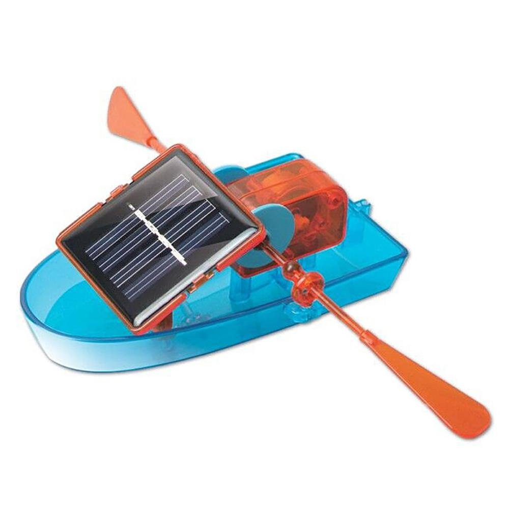 AOLVO solarbetrieben Boot, DIY Solar Power Boat Spielzeugen, Take Apart, Wissenschaftliche Spielzeug, Educational Solar Energy Robot Boot-Kit fü r Jungen Mä dchen aldults Weihnachten Geschenk –  Lernspielzeug