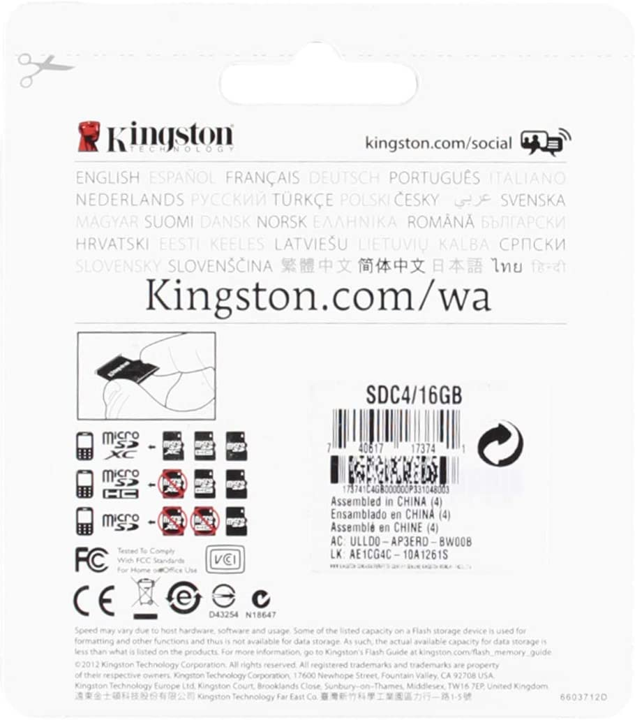 32Mbps // Class 4 Professional Kingston 16GB MicroSDHC Samsung SM-N915VZKEVZW with custom formatting and Standard SD Adapter!