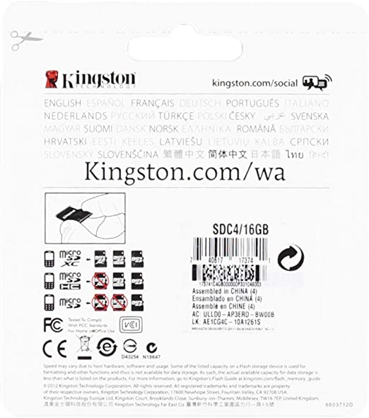 Professional Kingston 16GB MicroSDHC Card for Sony WT13i Smartphone with custom formatting and Standard SD Adapter. Class 4 .
