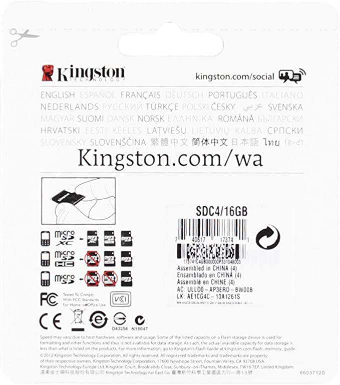 Professional Kingston MicroSDHC 16GB Card for LG KM555 Phone with custom formatting and Standard SD Adapter. 16 Gigabyte SDHC Class 4 Certified