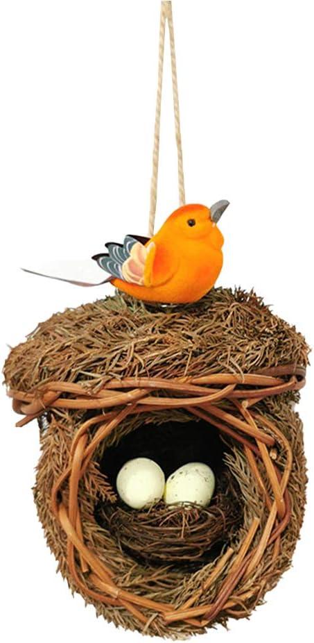 LZJDS Casa De Pájaros Tejida A Mano Nido De Hierba Nido De Cubierta Adecuado para Jardines Interiores Y Exteriores Sin Dañar A Los Pájaros