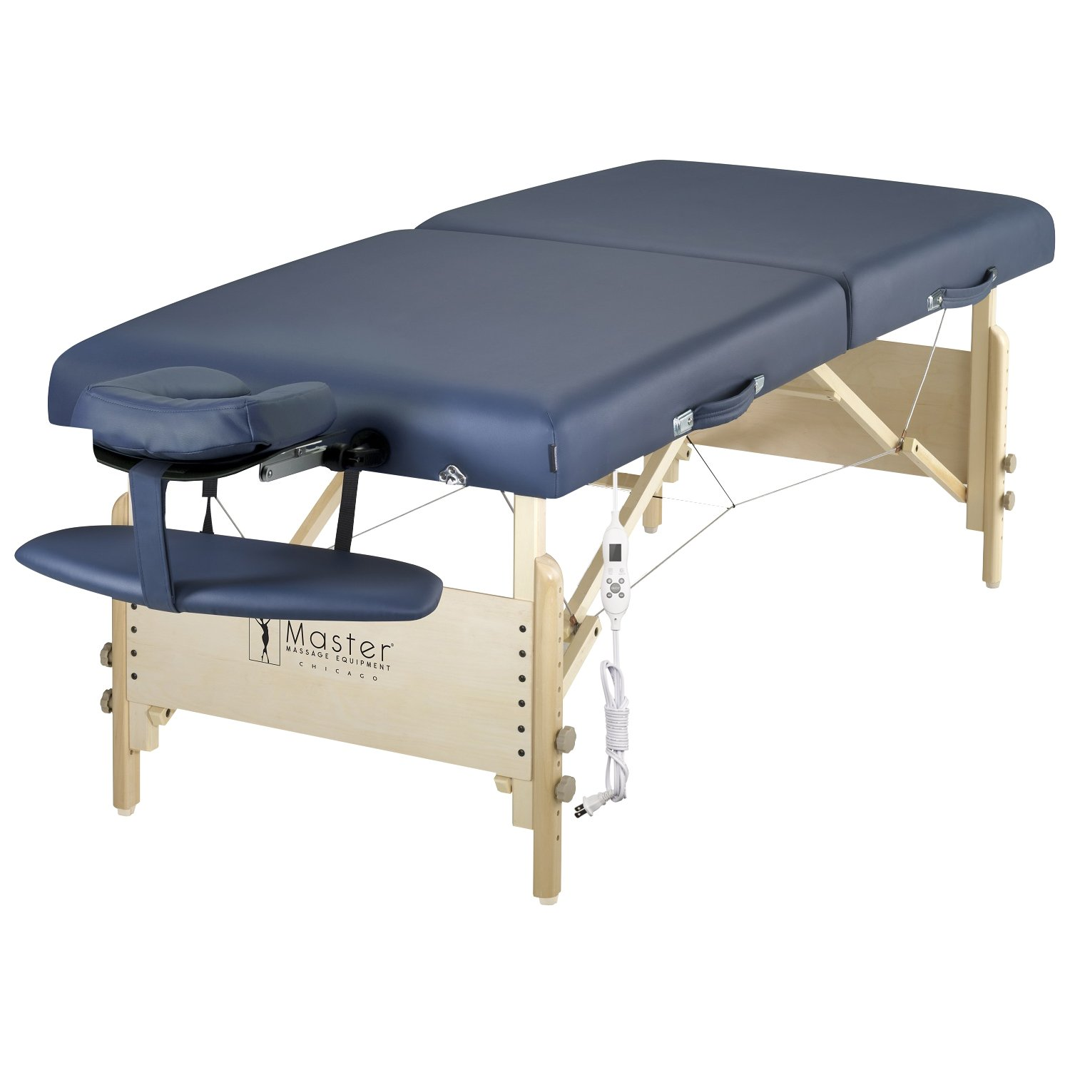 Master Massage 30'' Coronado Therma Top LX Portable Massage Table Package, Royal Blue