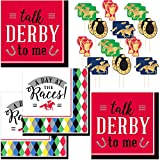 Kentucky Derby Party Supplies - Paper Cocktail Napkins (64 Count) and Horse Racing Picks (24 Count)