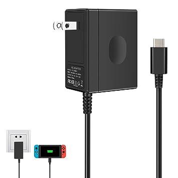 Amazon.com: Cargador para Nintendo Switch, adaptador de CA ...
