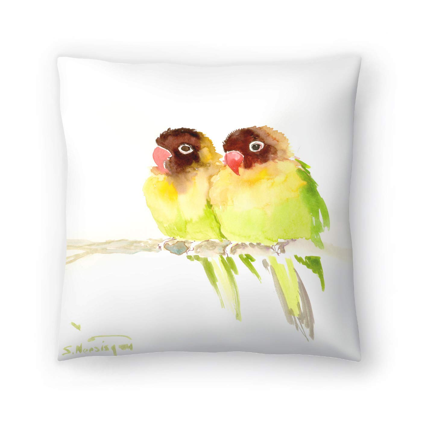 Buy American Flat Masked Lovebirds Pillow By Suren Nersisyan 16 X 16 Online At Low Prices In India Amazon In
