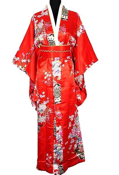 Luxe Kimono Furisode Yukata Japonais Robe Ac Obi Taille Unique