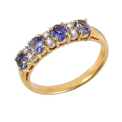 Ivy Gems 9ct Yellow Gold Three Fresh Water Pearl & Diamond Half Eternity Ring vtaNsGfICk