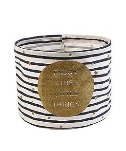 Doitsa Redonda Caja Cubo Cesta de almacenaje Abiertos Lino y algodón Plegables cestas para la Colada Bolsa de almacenaje para Juguetes