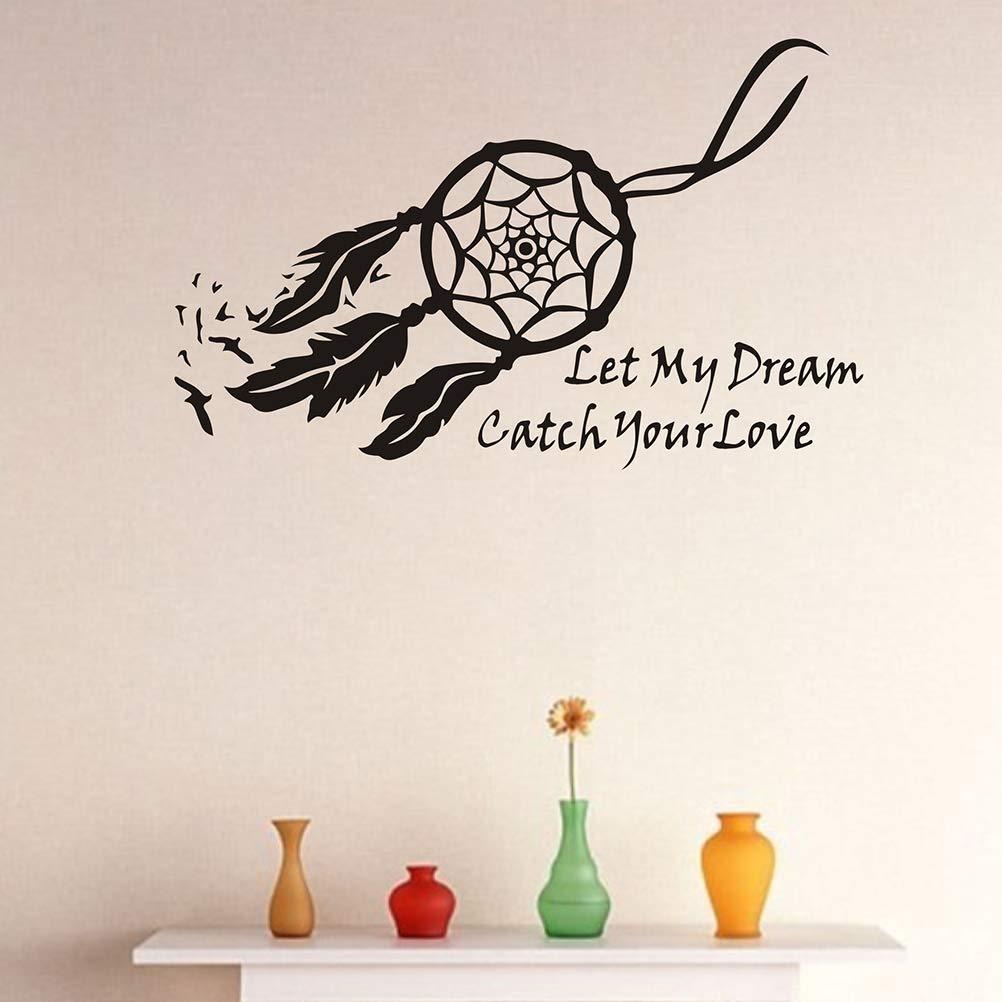 IMIKEYA Let My Dream Dream Catch Your Love Pegatinas de Pared ...